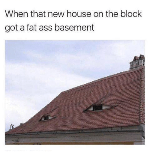 Ass, Fat Ass, and House: When that new house on the block  got a fat ass basement