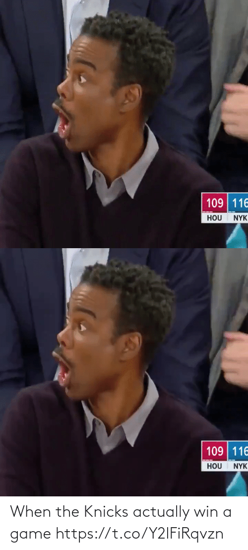Game: When the Knicks actually win a game https://t.co/Y2lFiRqvzn