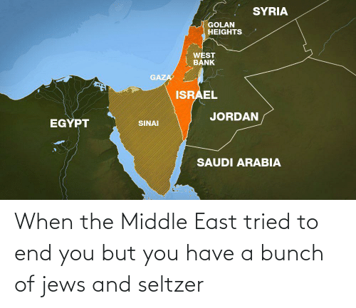 The Middle: When the Middle East tried to end you but you have a bunch of jews and seltzer