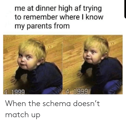 Match: When the schema doesn't match up