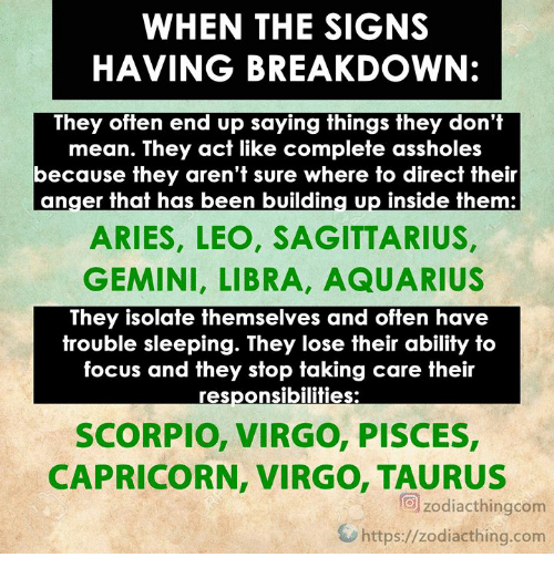 WHEN THE SIGNS HAVING BREAKDOWN They Often End Up Saying