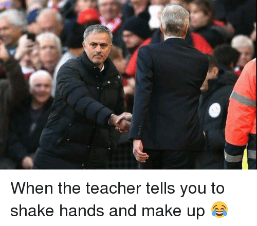 Soccer, Teachers, and Shake: When the teacher tells you to shake hands and make up 😂