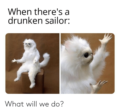 Drunken: When there's a  drunken sailor: What will we do?