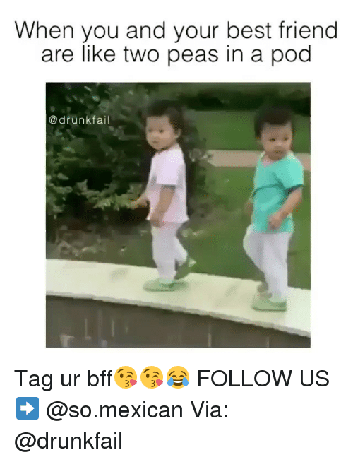 Best Friends Are Like: When you and your best friend  are like two peas in a pod  drunk fail Tag ur bff😘😘😂 FOLLOW US➡️ @so.mexican Via: @drunkfail