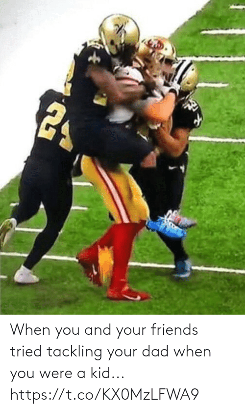 Dad, Football, and Friends: When you and your friends tried tackling your dad when you were a kid... https://t.co/KX0MzLFWA9