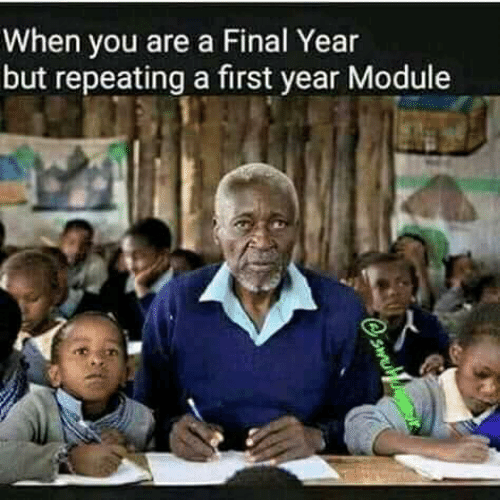 module: When you are a Final Year  but repeating a first year Module
