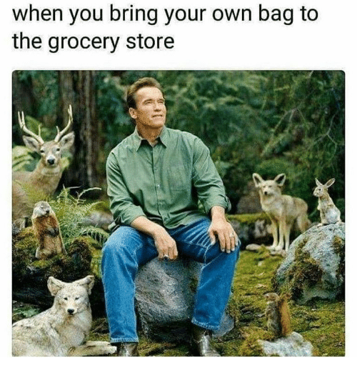 Own, You, and Store: when you bring your own bag to  the grocery store