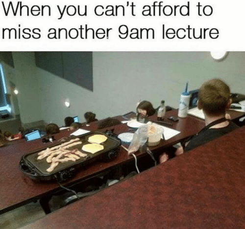 Another, You, and Miss: When you can't afford to  miss another 9am lecture