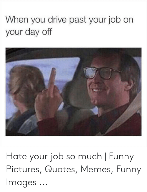 When You Drive Past Your Job on Your Day Off Hate Your Job ...