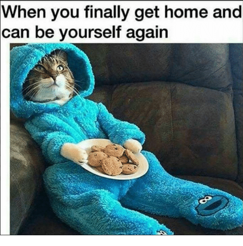 Home, Can, and You: When you finally get home and  can be yourself again