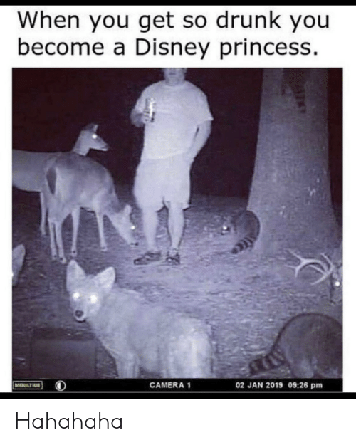 Disney, Drunk, and Camera: When you get so drunk you  become a Disney princess  02 JAN 2019 09:26 pm  CAMERA 1  MOULTRIE Hahahaha