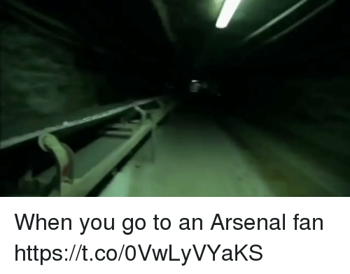 Arsenal, Memes, and 🤖: When you go to an Arsenal fan https://t.co/0VwLyVYaKS