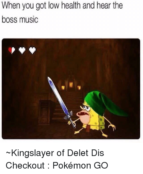 When You Got Low Health and Hear the Boss Music ~Kingslayer of Delet
