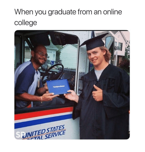 College, United, and United States: When you graduate from an online  college  UNITED STATES  TAL SERVICE  SB