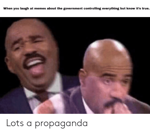 Memes, True, and Propaganda: When you laugh at memes about the government controlling everything but know it's true. Lots a propaganda