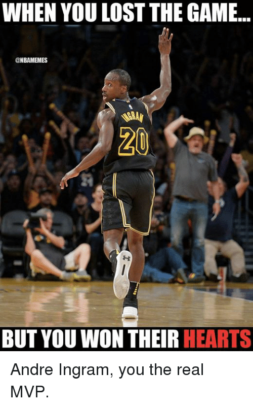 Nba, The Game, and Lost: WHEN YOU LOST THE GAME..  @NBAMEMES  BUT YOU WON THEIR HEARTS Andre Ingram, you the real MVP.