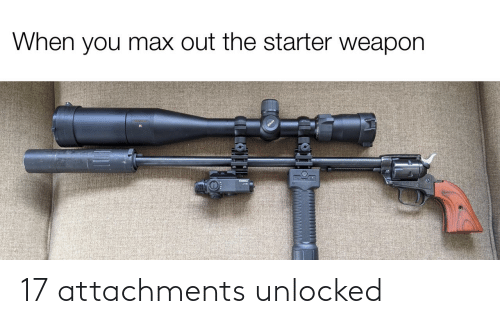 Unlocked: When you max out the starter weapon  ILLO 17 attachments unlocked