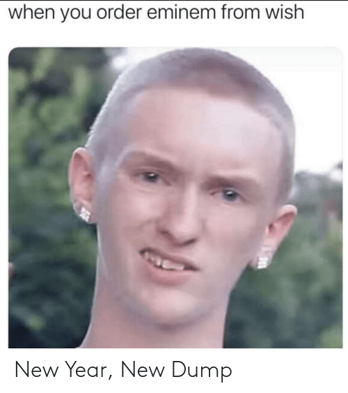 Wish: when you order eminem from wish New Year, New Dump