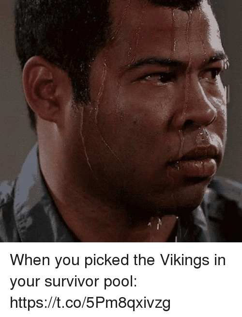 the vikings: When you picked the Vikings in your survivor pool: https://t.co/5Pm8qxivzg