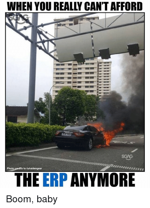 Memes, Baby, and Boom: WHEN YOU REALLY CAN'T AFFORD  SCAG  Photo credits to /wraidengear  THE ERP ANYMORE Boom, baby