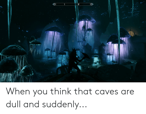 Think, You, and When You: When you think that caves are dull and suddenly...