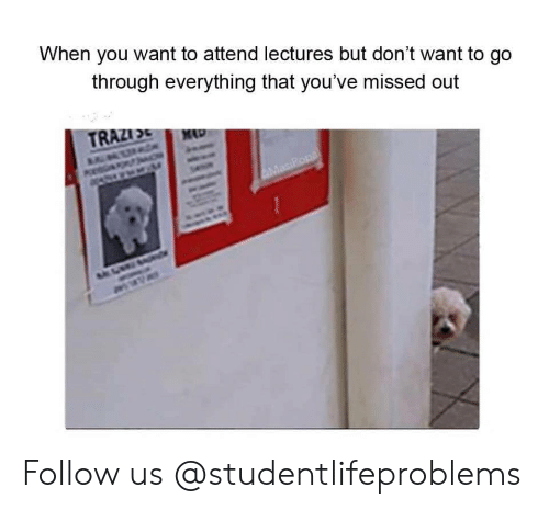 Dont Want To Go: When you want to attend lectures but don't want to go  through everything that you've missed out Follow us @studentlifeproblems