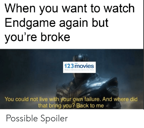 When You Want to Watch Endgame Again but You're Broke 123