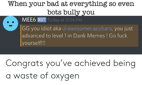When Your Bad at Everything So Even Bots Bully You MEE6 BOT