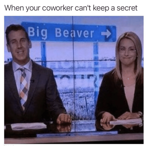 Secret, Beaver, and Big: When your coworker can't keep a secret  Big Beaver
