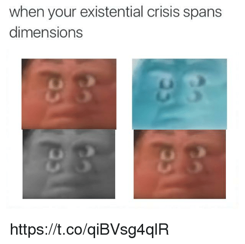 Dimensions, Crisis, and Existential: when your existential crisis spans  dimensions https://t.co/qiBVsg4qlR