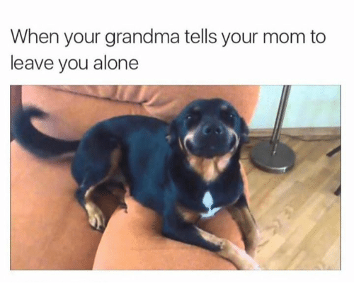 Being Alone, Grandma, and Mom: When your grandma tells your mom to  leave you alone