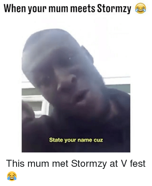 Memes, Stormzy, and 🤖: When your mum meets Stormzy  State your name cuz This mum met Stormzy at V fest 😂