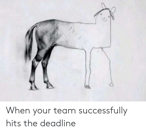 Team, Deadline, and When: When your team successfully hits the deadline