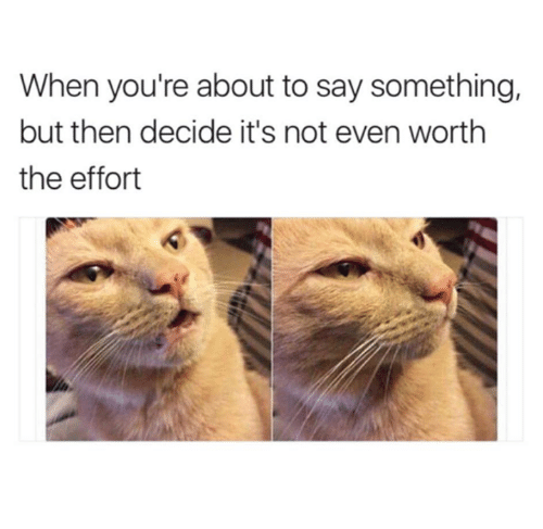 Memes, 🤖, and Youre: When you're about to say something,  but then decide it's not even worth  the effort