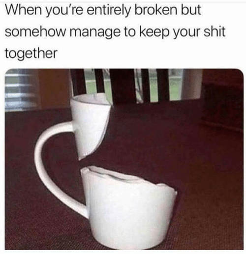 Shit, Youre, and Together: When you're entirely broken but  somehow manage to keep your shit  together