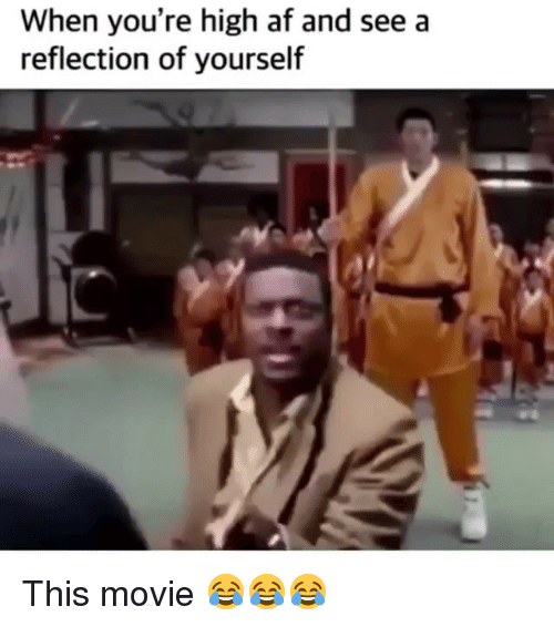 When Youre High Af: When you're high af and seea  reflection of yourself This movie 😂😂😂