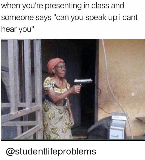 "Tumblr, Http, and Com: when you're presenting in class and  someone says ""can you speak up i cant  hear you"" @studentlifeproblems"