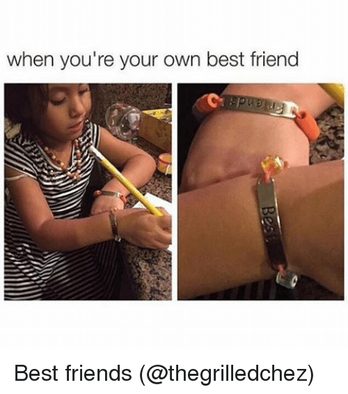 Best Friend, Memes, and Best Friends: when you're your own best friend Best friends (@thegrilledchez)