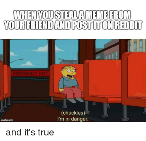 WHEN YOUSTEALAMEME FROM YOUR FRIEND AND POST ITON REDDIT