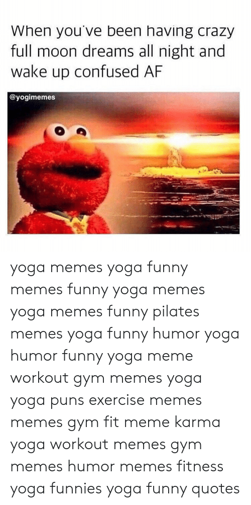 gym memes: When you've been having crazy  full moon dreams all night and  wake up confused AF  @yogimemes yoga memes yoga funny memes funny yoga memes yoga memes funny pilates memes yoga funny humor yoga humor funny yoga meme workout gym memes yoga yoga puns exercise memes memes gym fit meme karma yoga workout memes gym memes humor memes fitness yoga funnies yoga funny quotes