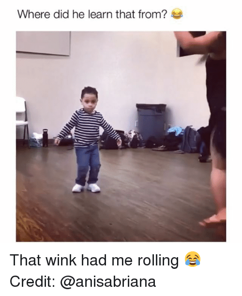 Memes, 🤖, and Wink: Where did he learn that from? That wink had me rolling 😂 Credit: @anisabriana