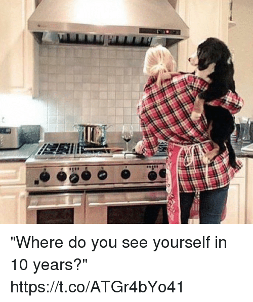 "Memes, 🤖, and 10 Years: ""Where do you see yourself in 10 years?"" https://t.co/ATGr4bYo41"