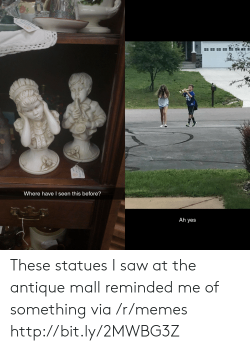 I Seen: Where have I seen this before?  Ah yes These statues I saw at the antique mall reminded me of something via /r/memes http://bit.ly/2MWBG3Z