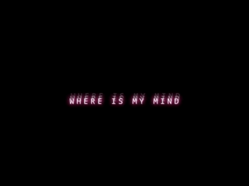 Where, Where Is, and My: WHERE IS MY NIND