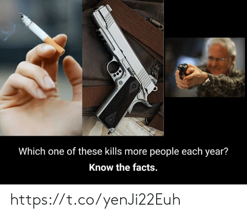 Each Year: Which one of these kills more people each year?  Know the facts. https://t.co/yenJi22Euh