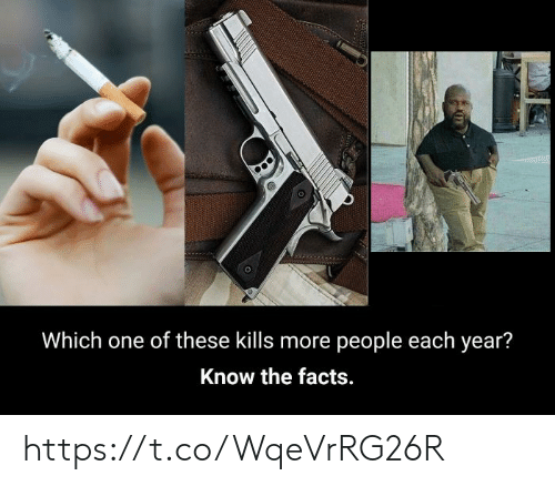 Each Year: Which one of these kills more people each year?  Know the facts. https://t.co/WqeVrRG26R