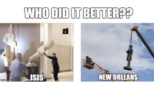 Isis, Memes, and New Orleans: WHO DIDITBETTERPED  ISIS  NEW ORLEANS