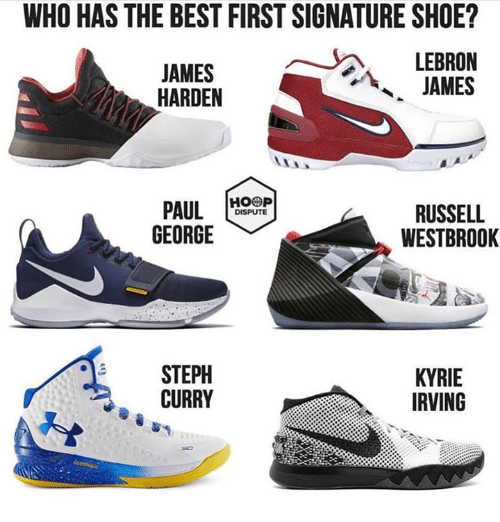 adad97a0e585 WHO HAS THE BEST FIRST SIGNATURE SHOE  JAMES HARDEN LEBRON JAMES ...