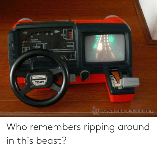 ripping: Who remembers ripping around in this beast?