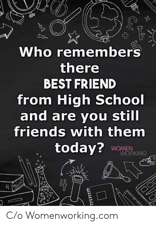Still Friends: Who remembers  there  BEST FRIEND  from High School  and are you still  friends with them  today? WOMEN  WORKING  0 C/o Womenworking.com